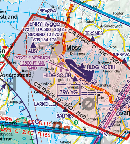 CTR Kontrollzone Norwegen