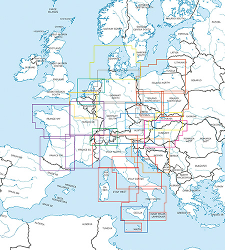 Central Europe VFR Charts ICAO Charts