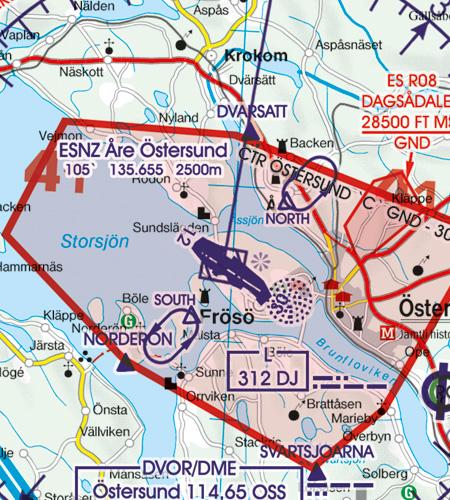 Flughafen Östersund Anflugverfahren Schweden
