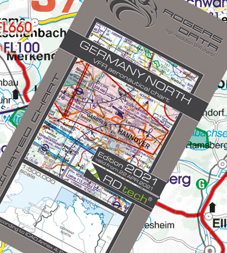 Germany North VFR Aeronautical Chart ICAO Chart 2021