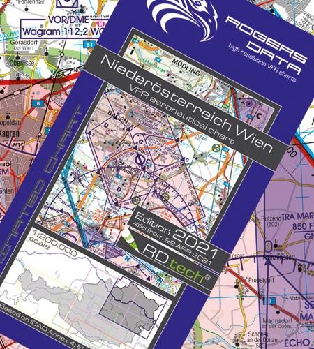 Niederösterreich Wien VFR Luftfahrtkarte ICAO Karte 2021