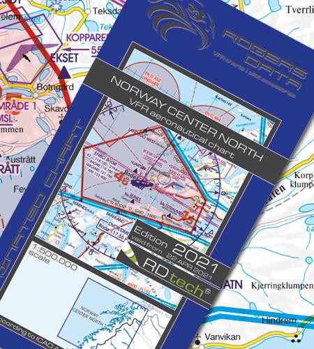 Norway Center North VFR Aeronautical Chart ICAO chart 2021