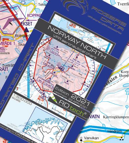 Norwegen Nord VFR Luftfahrtkarte ICAO Karte