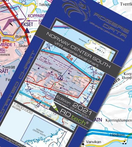 Norwegen Zentrum Süd VFR Luftfahrtkarte ICAO Karte
