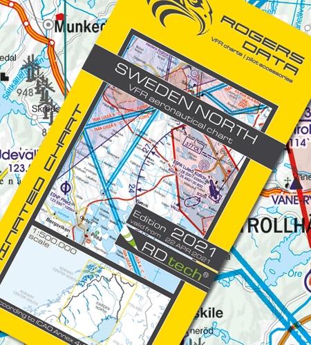 Schweden Nord VFR Luftfahrtkarte ICAO Karte