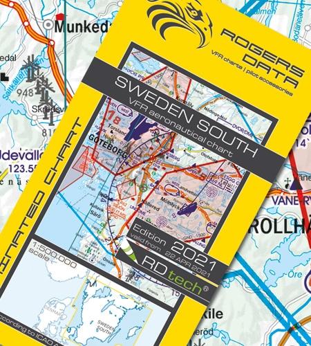 Schweden Süd VFR Luftfahrtkarte ICAO Karte