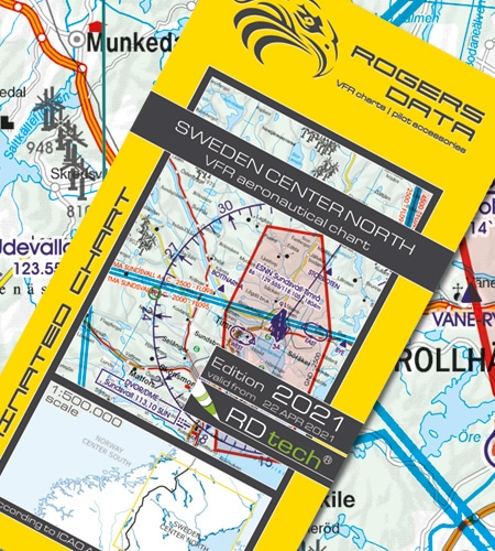 Schweden Zentrum Nord VFR Luftfahrtkarte ICAO Karte