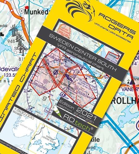 Schweden Zentrum Süd VFR Luftfahrtkarte ICAO Karte