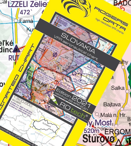 Slowakei VFR Luftfahrtkarte ICAO Karte 2021