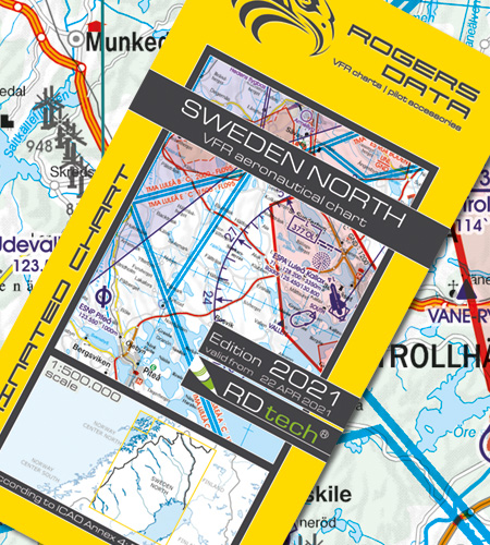 Sweden North VFR Aeronautical Chart ICAO chart 2021