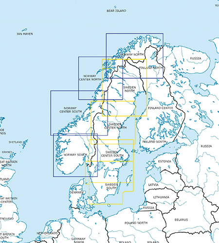 Sweden Norway VFR Charts ICAO Charts