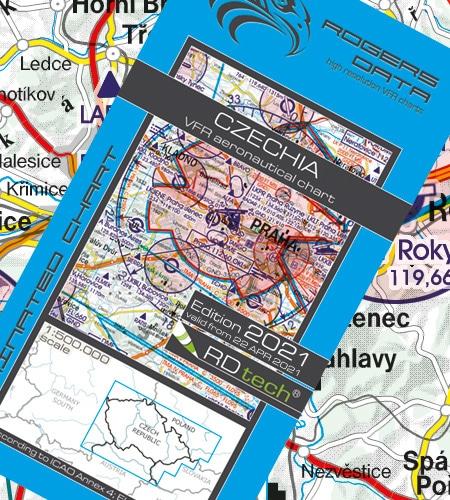 Tschechien VFR Luftfahrtkarte ICAO Karte 2021