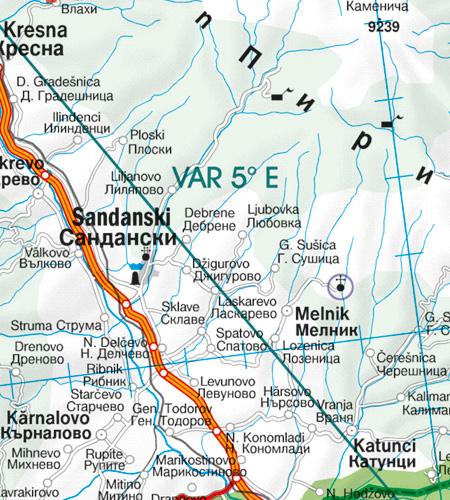 VAR magnetische Variation Bulgarien