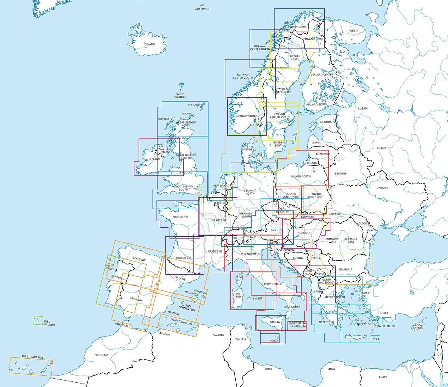 VFR Luftfahrtkarten ICAO Karten 2021