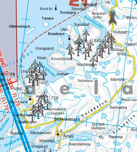 Windräder Windkraftwerke Norwegen