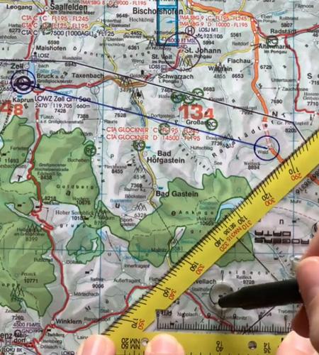 Navigationsdreieck EASA ICAO Kreisschablone