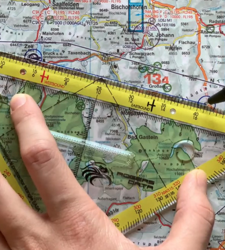 Navigationsdreieck EASA ICAO