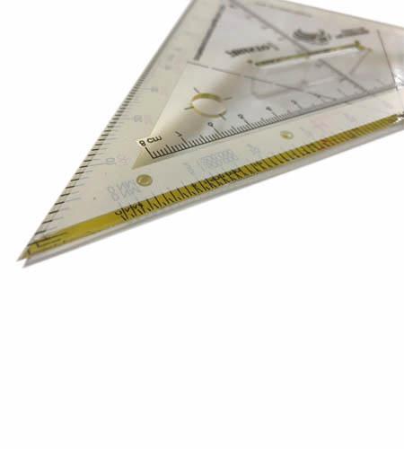 Navigationsdreieck Nahaufnahme Hypotenuse