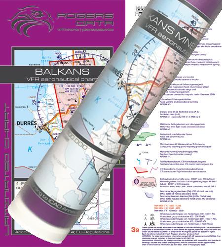 Balkans VFR Karte Wandkarte