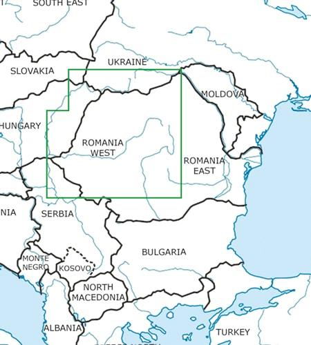 Rumänien West VFR Luftfahrtkarte ICAO 2021