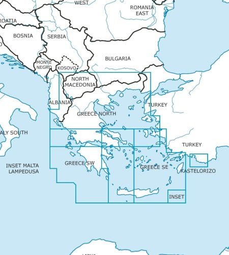 Griechenland Wandkarte ICAO Karte