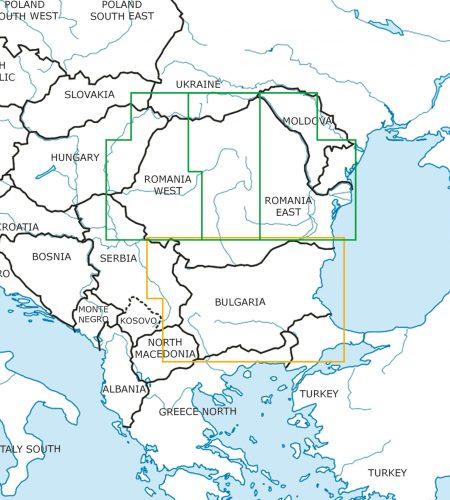 Rumänien Bulgarien Wandkarte ICAO Karte