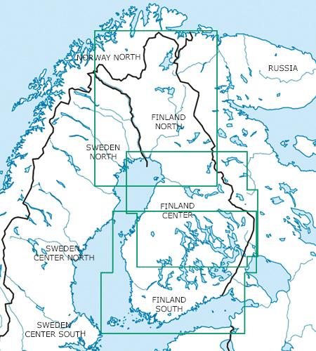Finnland Blattschnitt VFR Luftfahrtkarte ICAO