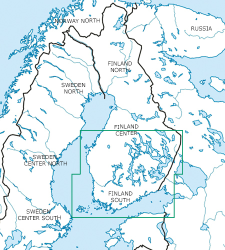 Finnland Süd Blattschnitt VFR Luftfahrtkarte ICAO