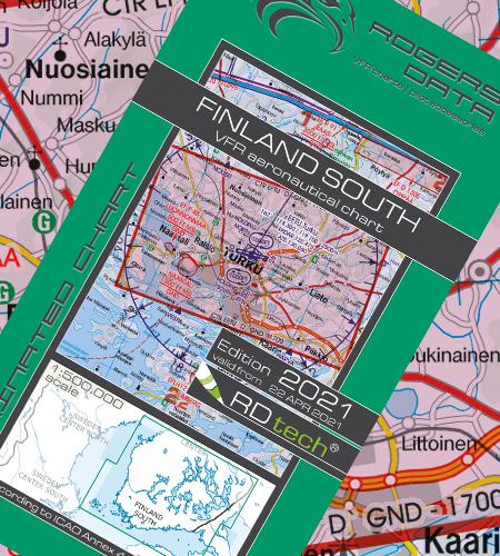 Finnland Süd VFR Luftfahrtkarte ICAO 2021