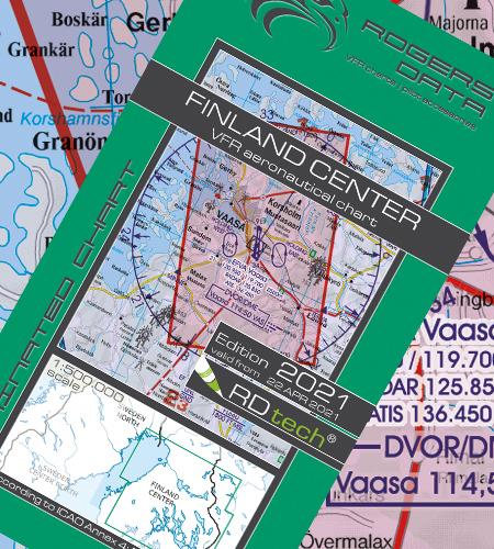 Finnland Zentrum VFR Luftfahrtkarte ICAO 2021