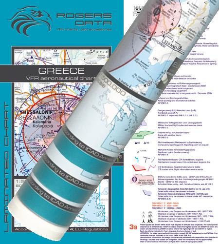 Griechenland VFR Karte Wandkarte