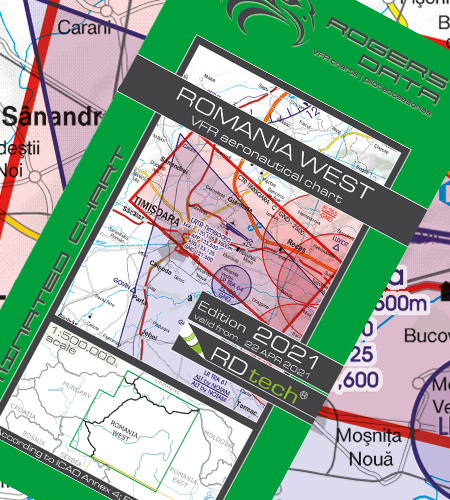 Romania West VFR ICAO Chart 2021