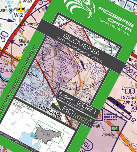 Slowenien VFR Luftfahrtkarte ICAO 2021