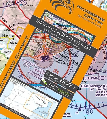 Spanien NE VFR Luftfahrtkarte ICAO 2021