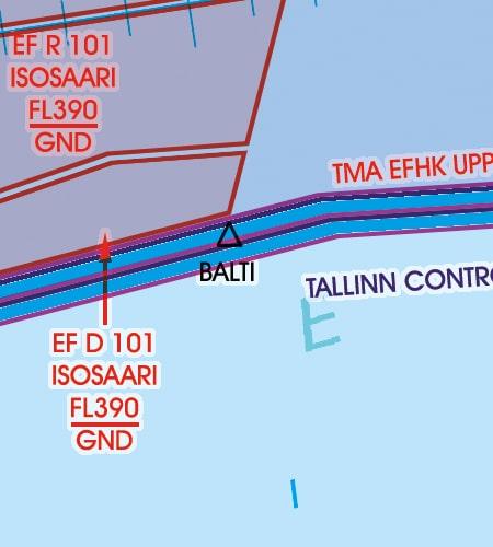 Estland VFR Karte Grenzüberflugspunkt