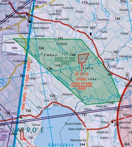 Estland VFR Karte Naturschutzgebiet