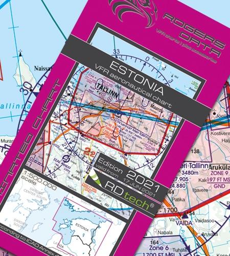Estland VFR Luftfahrtkarte ICAO Karte