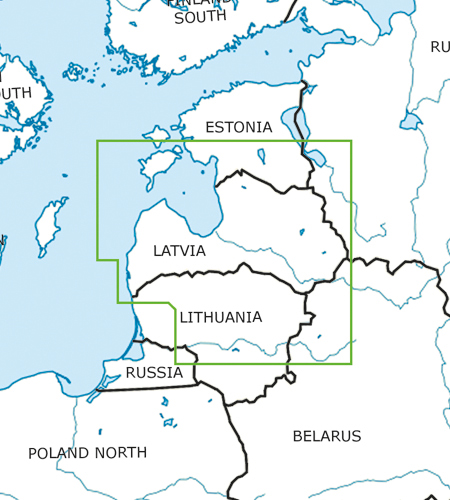 Lettland VFR ICAO Karte