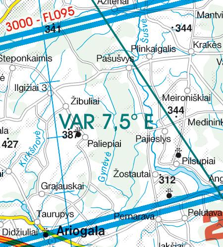 Lettland VFR Karte Variation