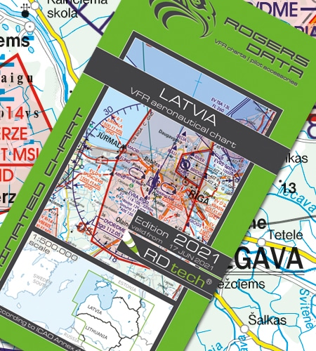 Lettland VFR Luftfahrtkarte ICAO Karte