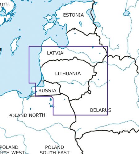 Litauen VFR ICAO Karte