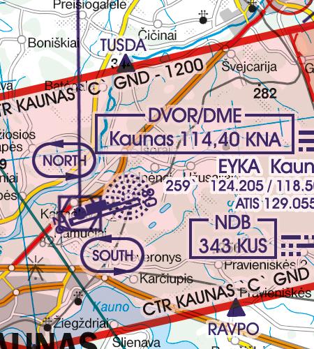 Litauen VFR Karte Kontrollzone