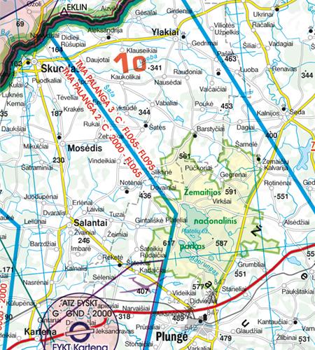 Litauen VFR Karte Nahkotrollbezirk