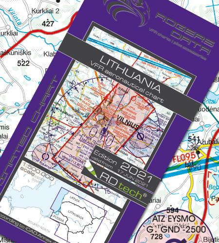 Litauen VFR Luftfahrtkarte ICAO Karte