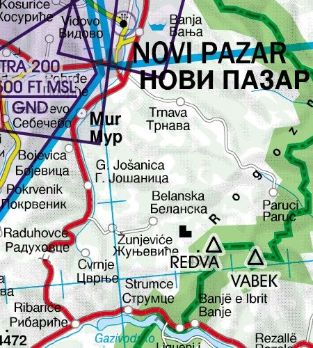 markante-punkte-grenzueberflugspunkte-serbien-vfr-luftfahrtkarte