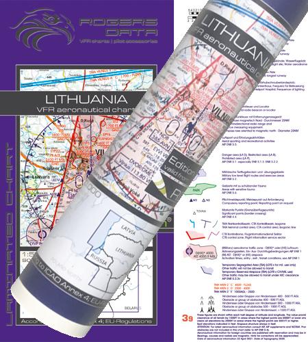 Litauen VFR Karte Wandkarte